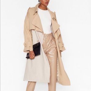 Two toned oversized trench coat brand new